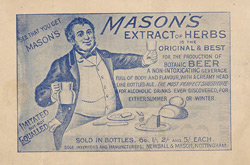 Advert For Mason's Non Alcoholic Beer reverse